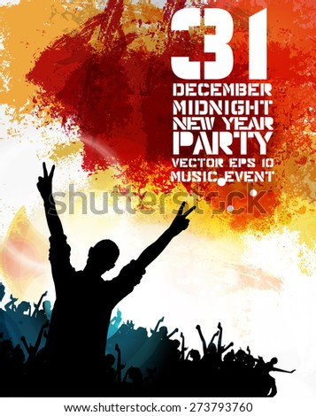 Concert illustration. Vector illustration - stock vector