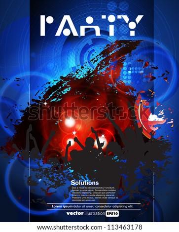 Concert poster. Vector illustration - stock vector