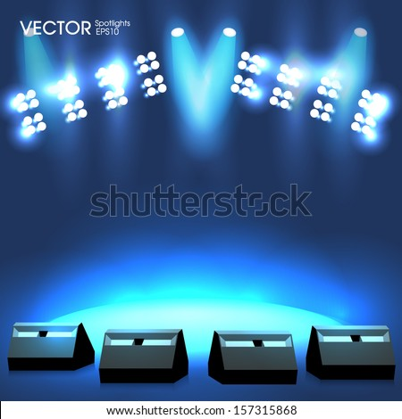 Concert Stage lights - stock vector