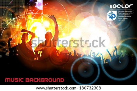 Concert. Vector illustration - stock vector