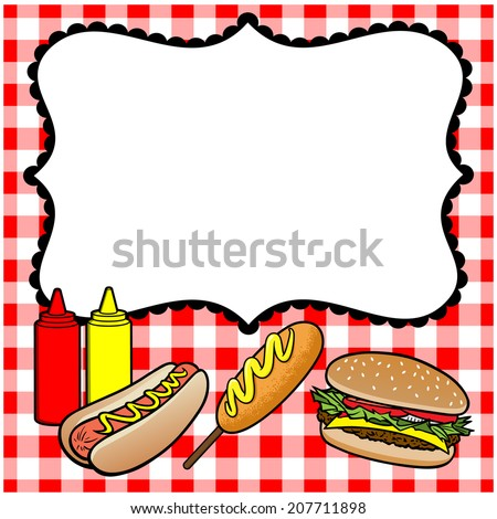 Concession Stand Menu - stock vector