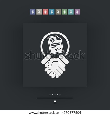 Conciliation payment - stock vector