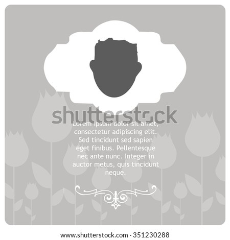 Condolences illustration over gray color background