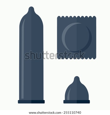 Condom vector icon - stock vector