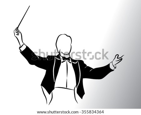 conductor  isolated illustration - stock vector