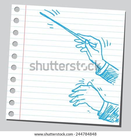Conductor's hands - stock vector