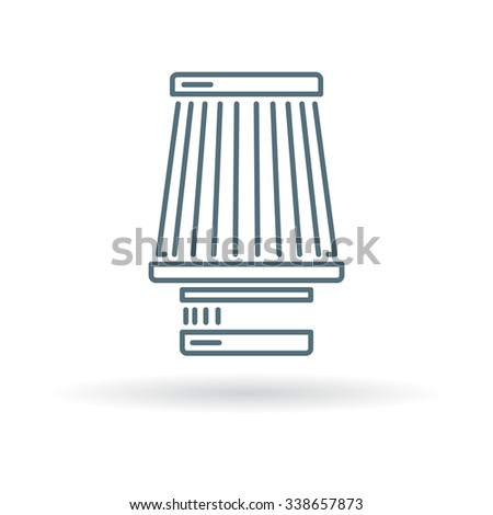 Cone Filter Induction Icon Vehicle Air Stock Vector Hd Royalty Free