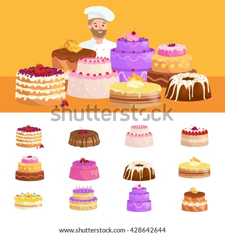 confectioner vector, confectioner illustration, confectioner , confectioner cook, confectioner food, confectioner chef, confectioner cooking, confectioner kitchen, confectioner pastry, confectioner - stock vector