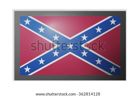 Confederate, Confederacy Flag with black boarder - stock vector