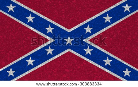Confederate, Confederacy flag with grunge texture.Vector template