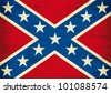 Confederate flag grunge - stock photo