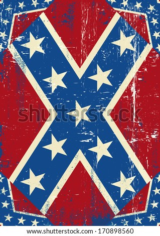 Confederate grunge background. A grunge confederate poster for you - stock vector