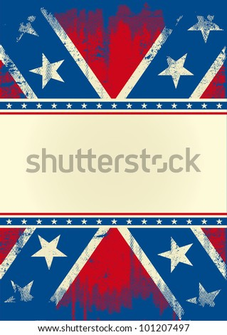 Confederate poster. A confederate poster with a texture and a large frame for your message