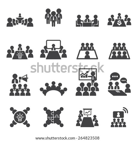 conference and business icon - stock vector