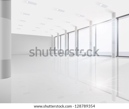 Conference room. Vector illustration.