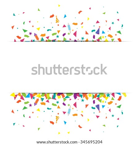 confetti and firework background, can be use for celebration, new year party, christmas card.  also design for web page, business sale banner, vector illustration - stock vector