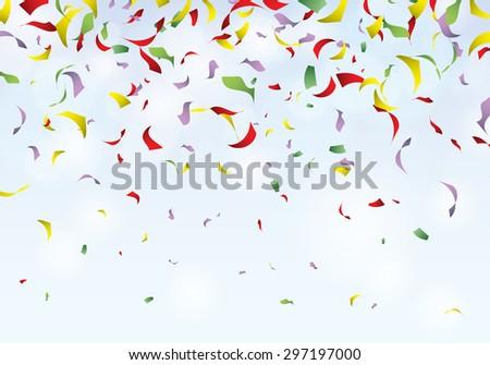 Confetti party background carnival vector illustration - stock vector