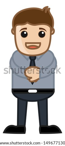 Confident Man - Business Cartoon Character Vector