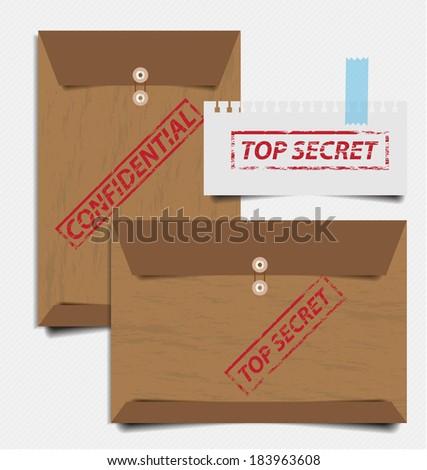 Confidential envelope vector illustration - stock vector