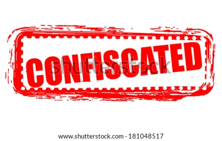 confiscated grunge stamp with on vector illustration