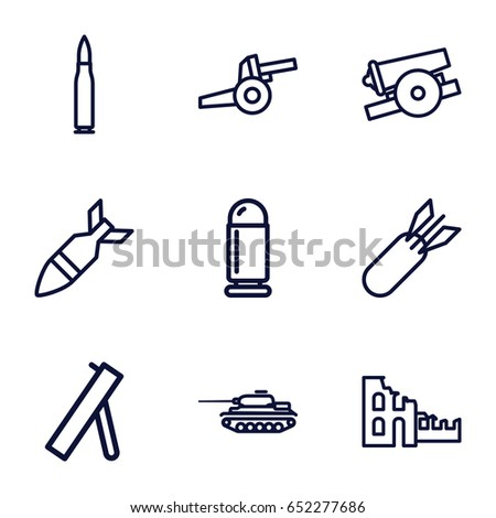Conflict Icons Set Set 9 Conflict Stock Photo Photo Vector