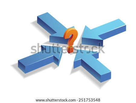Confusion/Decision Making/Question - stock vector