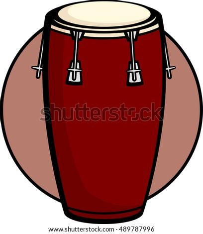 Conga Drum Stock Vector 489787996