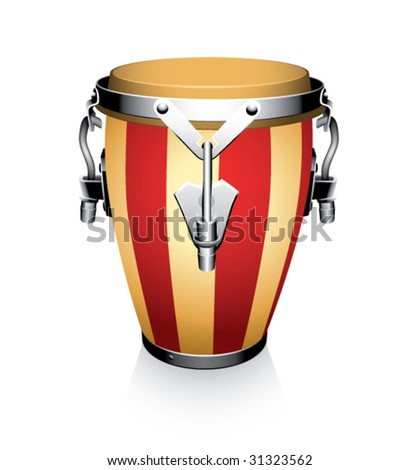 conga on a white background - stock vector