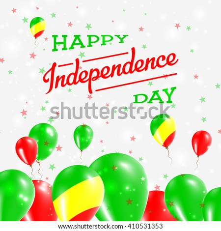 Congo Independence Day Patriotic Design Balloons Stock Vector - Congo independence day