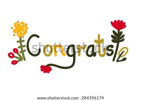 congrats - stock vector