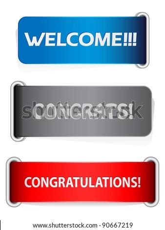 congratulation banners - stock vector