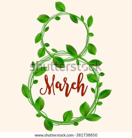 Congratulation or greeting card for women's day. Happy women's day card design. The international women's day. 8 March. Greeting background. vector illustration.
