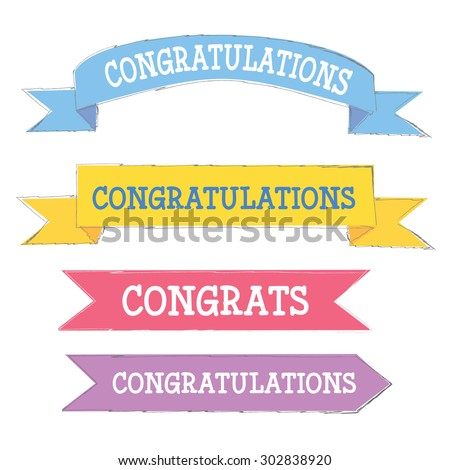 Congratulations banner stock images royalty free images vectors congratulations banner in different colors pronofoot35fo Images