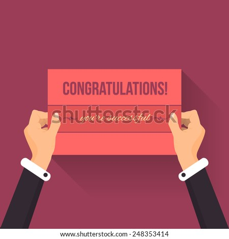 Congratulations Lettering Card Hold Hands Vector Design - stock vector