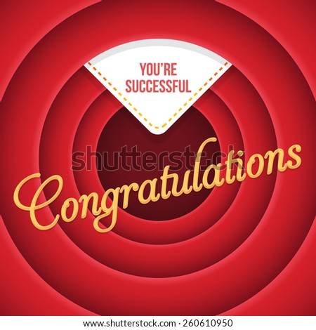 Congratulations Lettering, Movie Style Background - stock vector