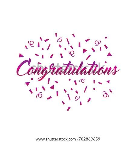 Congratulations sign confetti vector illustration stock vector congratulations sign with confetti vector illustration pronofoot35fo Image collections