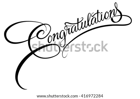 Congratulations,text,template,congratulations banner,congratulations card,congratulations business,congratulations text,congratulations letter,congratulations vector,congratulations word,calligraphy - stock vector