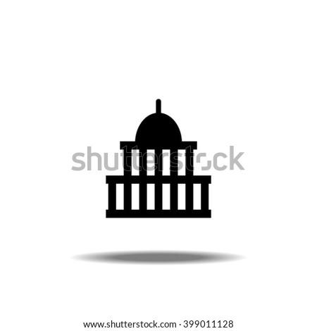 Congress Capitol Building in Washington DC Icon Vector Illustration - stock vector