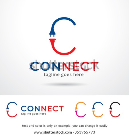 Connect Letter C Logo Template Design Stock Vector 353965793 ...