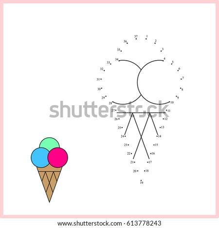 Connect Dot Dot Dot Game Children Stock Vector 613778243 Shutterstock