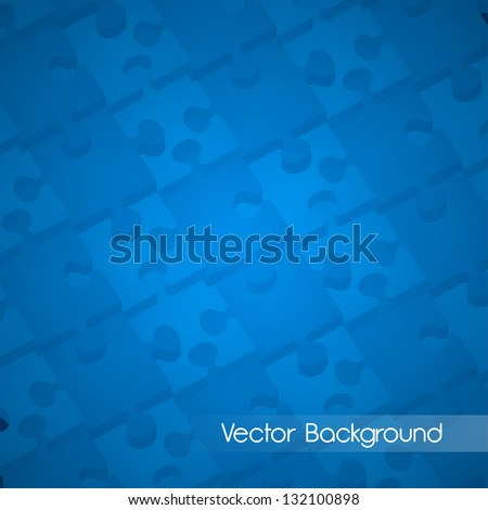 Connected 3D puzzle pieces   EPS 10 Vector Background - stock vector