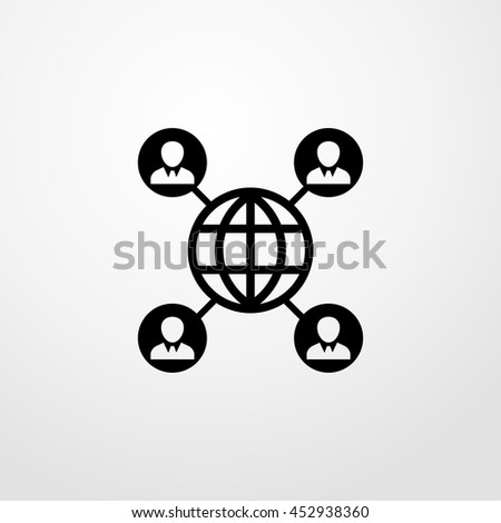 connected the earth icon. connected the earth  sign - stock vector