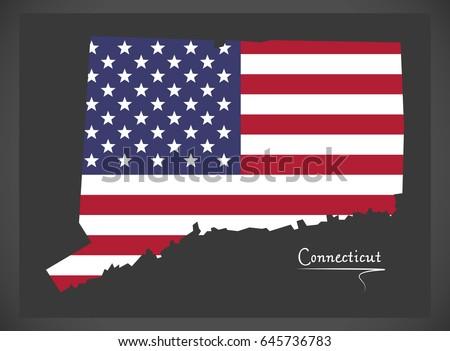 Connecticut Stock Images RoyaltyFree Images Vectors Shutterstock - Us map ct