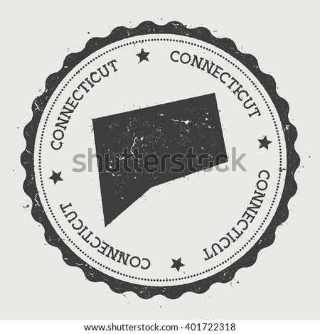 Pennsylvania Vector Sticker Hipster Round Rubber Stock Vector - Labeled us map vector