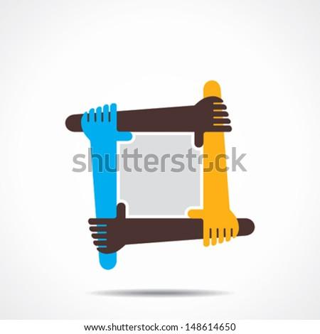 connecting hand icon vector concept - stock vector