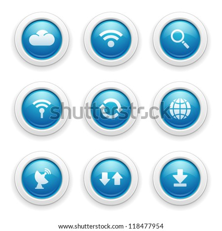 Connecting Internet Icons - stock vector