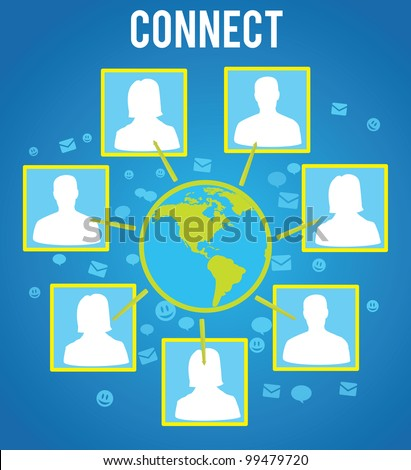 connecting people of the world - vector illustration