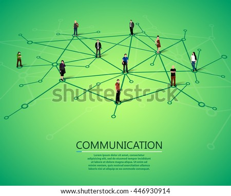 Connecting people. Social network concept. Vector illustration - stock vector