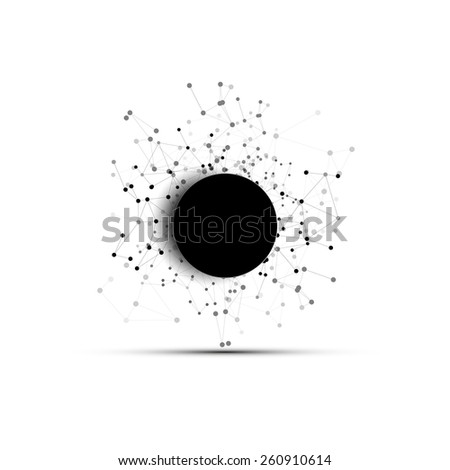 Connection background with place for text. Molecule structure, background for communication, vector illustration. - stock vector