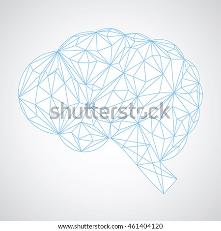 Connection concept of the human brain, Brainstorming vector